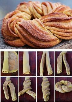 Homestead Survival: Braided Cinnamon Wreath Recipe and Method I'd only try it with my mom's cinnamon roll recipe! Braided Cinnamon Wreath Recipe and Technique, Nice For Christmas Morning - Thehomesteadsurvival Braided Cinnamon Wreath Recipe - gonna make t Cinnamon Wreath Recipe, Breakfast Recipes, Dessert Recipes, Breakfast Ideas, Breakfast Casserole, Breakfast Bake, Breakfast Croissant, Breakfast Muffins, Health Breakfast
