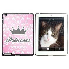 Princess Crown Pink Damask - Spoiled Apple iPad Case, Black