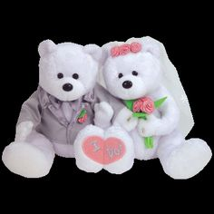 Bride and Groom Beanie Baby Bears Kids Toy Store, New Kids Toys, Ty Babies, Babies Stuff, Ty Bears, Beanie Baby Bears, Beanie Buddies, Plush Animals, Stuffed Animals