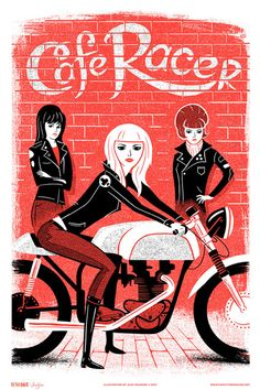 """Retro Gals : Mods and Rockers"" Art Print Series from Familytree"
