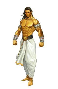 Human Male Monk - Pathfinder PFRPG DND D&D d20 fantasy