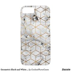 Geometric Black and White Marble and Gold Cubes iPhone Case - white gifts elegant diy gift ideas Unique Presents, Unique Gifts, Black And White Marble, Cubes, Cool Gifts, Iphone Case Covers, Cool Stuff, Gold, Gift Ideas