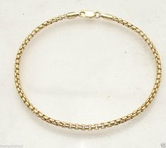 Solid Curb Cuban Link Ankle Bracelet Anklet Real 14K Yellow Gold 2.6mm ALL SIZES