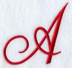 Monogram Script Letter A - 4 Inch