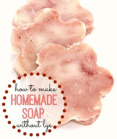 Want to make soap but you're worried about caustic lye? Here's How to Make Soap - without lye! This Easy Homemade Soap Recipe is great for making your own homemade soap or for easy homemade gifts.