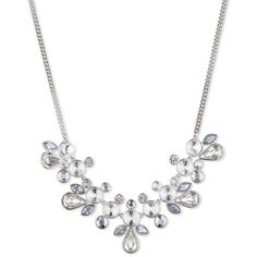 Givenchy Crystalline Statement Necklace ($125) ❤ liked on Polyvore featuring jewelry, necklaces, accessories, colar, silver, silver necklace, statement necklace, givenchy jewelry, silver jewelry and givenchy
