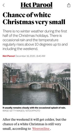 White Christmas, Christmas Holidays, Amsterdam, Weather, News, Outdoor, Christmas Vacation, Outdoors, Outdoor Games