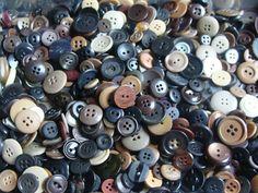 Wholesale Vintage Button Lot Mixed Brown Black Tan by mermaidsgems, $13.00