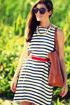 #Classy Girls Wear Pearls: Gooseberry Island Joules Stripey Dress | #fashion #mido