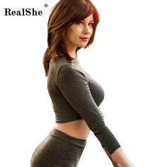 Cheap summer dress long, Buy Quality sexy women dress directly from China summer dress Suppliers: RealShe Women Knitting Dress 2017 Woman Long Sleeve Sexy Bandage Dress Women's Bodycon Party Dresses 2 Piece Set Women Vestidos