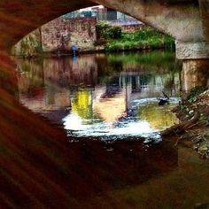 https://flic.kr/p/sBasNe | Under the bridge at Wharncliffe Side.. #upsticksandgo #wharncliffeside #riverdon #river #tourist #travel #michfrost #reflections #uk #travellingtheworld #explore