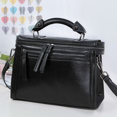 PU Zippers Decoration Handbag Shoulder Cross Body Bag