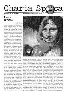 """Charta Sporca n.22 """"Parodie"""" - periodico culturale, aprile/maggio 2015 www.chartasporca.it"""