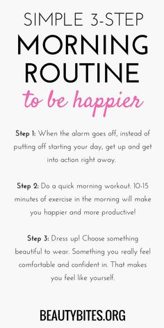 6 Steps to Happier, Sharper and Healthier Mornings - Women Fitness Magazine 6 S. - 6 Steps to Happier, Sharper and Healthier Mornings – Women Fitness Magazine 6 Steps to Happier, - Quick Morning Workout, Healthy Morning Routine, Morning Habits, Morning Routines, Morning Routine Chart, Healthy Routines, Bedtime Routine, Positive Energie, Evening Routine