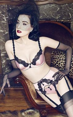 Dita Von Teese Heats Up Von Follies Lingerie | Drfunkenberry.com  Gorgeous. Why doesn't our target carry her stuff?