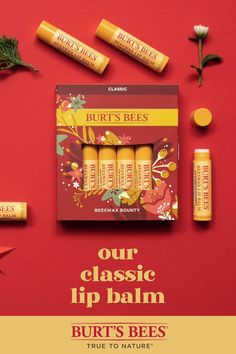 Give the gift of a classic! This festive 4-pack of our Beeswax Lip Balm is something that everyone will love. It opens like a greeting card, giving you space to share a note with the lucky recipient. Give the gift of lip care to those you love!