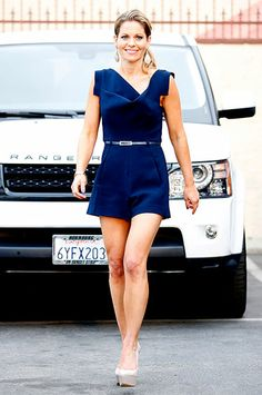 Candace Cameron-Bure rocks her awesome legs leaving the DWTS studio in LA after practicing with partner Mark Ballas on Mar. 25