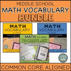 My Math Dictionary Project Bundle for Middle School (CCSS) Love Teacher, Teacher Tools, Math Teacher, Classroom Word Wall, I Hate Math, Math Vocabulary, School Levels, Secondary Math, Middle School Teachers