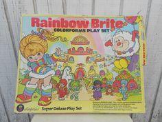 Rainbow Brite Colorforms #80s #childhood