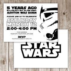 Digital File Star Wars Invitation by WildTreeBoutique on Etsy