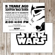 Star Wars Invitation by WildTreeBoutique on Etsy