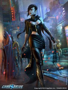 Chaos Drive - Sorciere Marjorie norm by kargall, Cyberpunk Cyberpunk 2077, Cyberpunk Kunst, Cyberpunk Girl, Arte Sci Fi, Sci Fi Art, Character Portraits, Character Art, Character Concept, Blade Runner