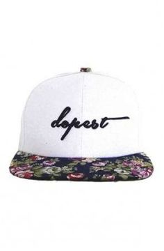 140e8b28a45 Dopest Floral Snapback in White   Navy Floral Snap Backs