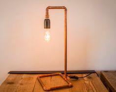 Copper pipe lamp / Lampe industrielle en tuyaux de cuivre