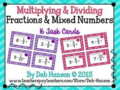 Multiplying and Dividing Task Cards: FREE!