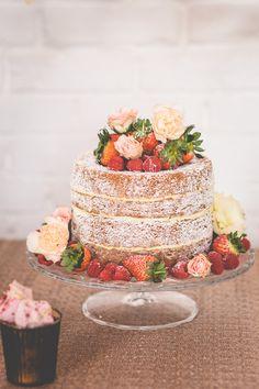 Naked cake by Frenchmade Naked wedding cake Wedding cake Natural wedding cake Wedding flowers
