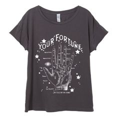 Womens Boho Fortune Teller Tarot Card Moon Star Tumblr Shirt Tee Top... ($25) ❤ liked on Polyvore featuring tops and t-shirts
