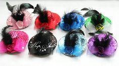 Sequin plain Mini Top Hat Fascinator Fancy Dress headwear fashion accessories 6 color 12Pcs-in Hair Accessories from Apparel & Accessories o...