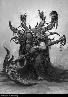 Wei Wang - The Art of Warcraft Film - Gul'dan Warcraft Film, Warcraft Orc, World Of Warcraft, Fantasy World, Dark Fantasy, Fantasy Forest, Final Fantasy, Heroes Of The Storm, Fantasy Monster