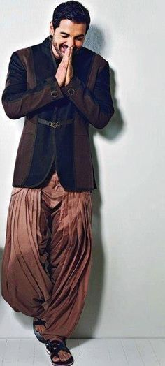 """pehchaanfashion: """" southasianbeauties: """" John Abraham """" I know this is men's fashion but his outfit is insanely stylish! Indian Attire, Indian Wear, Indian Outfits, Indian Men Fashion, Ethnic Fashion, Mens Fashion, John Abraham, Men Photoshoot, Dapper Gentleman"""