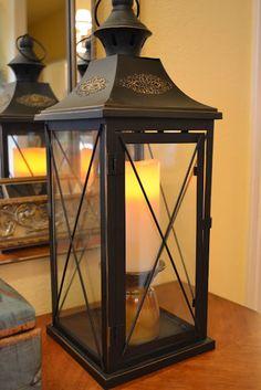 candle holder inside lantern