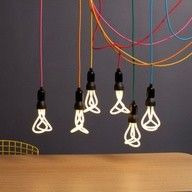 The Pendant Set is the simplest way of showing off your Plumen light bulb. With a metal ceiling rose and metres of fabric cable, the Pendant Set can be in any house and adjusted easily. Design Shop, Ampoule Design, Low Energy Light Bulbs, Incandescent Bulbs, Pendant Set, Pendant Lights, Light Decorations, Scandinavian Design, Scandinavian Lighting