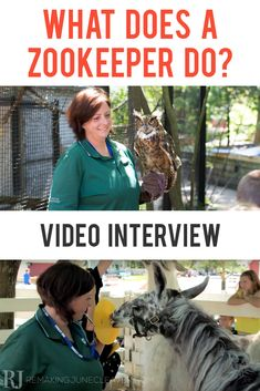 what does a zookeeper do? Watch this cool video interview with a real zookeeper on RemakingJuneCleaver.com #WorkforceStories #1in100mm #sponsored