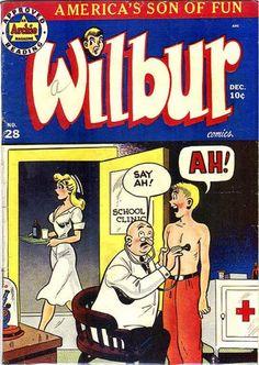 Comic Book Cover For Wilbur Comics Comic Book Plus, Comic Book Covers, Comic Books, What Image, Pulp Magazine, Archie Comics, Golden Age, Pop Art, Sci Fi