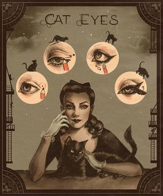 Cat Eyes by Sarah Anderson via weheartit.com