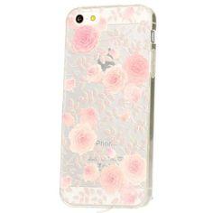 delightable24 Ultra Dünne Schutzhülle Leichtes Design Case TPU Silikon APPLE IPHONE SE / 5 / 5S Smartphone - Roses