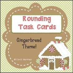 Review the rounding concept using these adorable Gingerbread Themed Rounding Task Cards.  32 different task cards are included, covering the following rounding skills:Rounding 2 digit numbers to the ten's placeRounding 3 digit numbers to the ten's placeRounding 3 digit numbers to the hundred's placeRounding 4 digit numbers to the hundred's placeRounding 4 digit numbers to the thousand's placeRounding 5 digit numbers to the thousand's placeRead-n-Round:  Reading sentences and rounding.