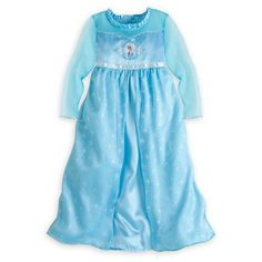 Elsa Nightgown for Girls - Frozen - the nightgowns are softer and wash better than the costumes so they're great for dress up!