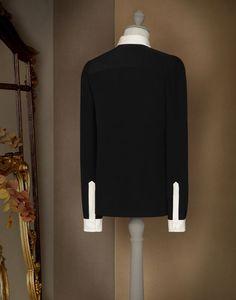 シャツ コントラストカラー - ロングスリーブシャツ - Dolce&Gabbana - 2015冬コレクション ¥ 89,640