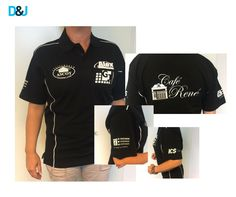 Cafe Rene bedrukking polos met diverse logo's. #Promotiekleding #kleding #Bedrukking #logo #promotie #merk #brand