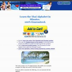 Start Selling The Leading Book For Learning The Thai Alphabet. Essential For Living And Travelling In Thailand And You Take A Huge Percentage Commission On Every Sale! The Book Enables People To Effortlessly Learn Thai Letters, After Only A Few Minutes! See more! : http://get-now.natantoday.com/lp.php?target=jazzano1