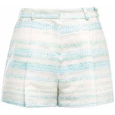 Gyunel - Woven Pleated Shorts (7.835 ARS) ❤ liked on Polyvore featuring shorts, pleated shorts, woven shorts and jacquard shorts