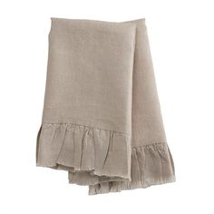 Natural Linen Hand Towels - Set of 2
