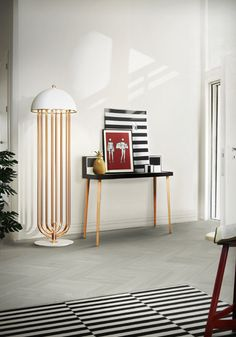 Turner Modern Floor Corner Lamp with Rotating Arms by DelightFULL Unique Lamps