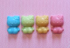 Whimsical Hello Kitty Soaps - Great Stocking Stuffers or Party Favors - Baby Shower, Birthdays. $3.00, via Etsy. #hellokitty #17holiday Baby Shower Party Favors, Baby Shower Gifts, Hello Kitty Baby Shower, Stocking Stuffers, Soaps, Whimsical, Birthdays, Unique Jewelry, Handmade Gifts