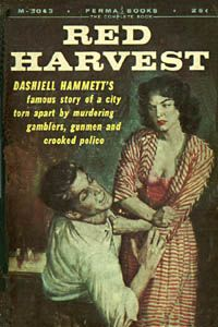 Dashiell Hammett's first novel! Just started it and loving it.. but the cover of my book does not look as interesting as this one! :)